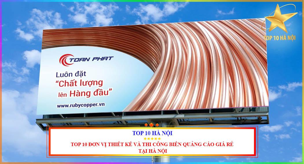 Top 10 đơn vị thiết kế và thi công biển quảng cáo giá rẻ tại Hà Nội