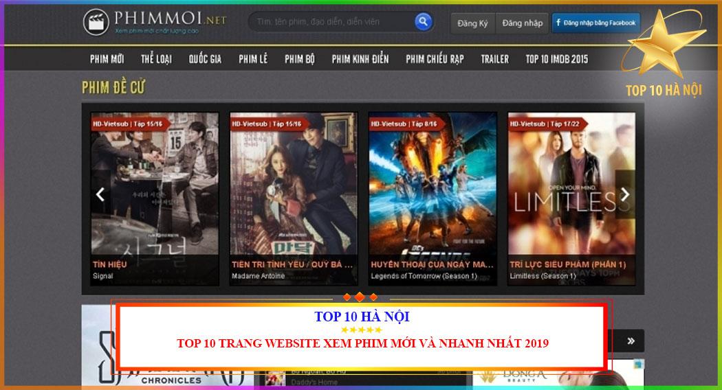 TOP 10 TRNAG WEBSITE XEM PHIM MỚI VÀ NHANH NHẤT 2019