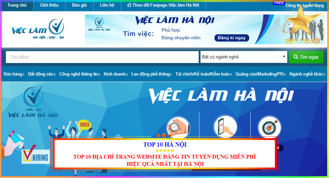 TOP 10 ĐỊA CHỈ TRANG WEBSITE ĐĂNG TIN TUYỂN DỤNG MIỄN PHÍ HIỆU QUẢ NHẤT TẠI HÀ NỘI